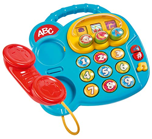 Simba 104010016 ABC Buntes Telefon/mit verschiedenen Sounds/Drehbilderdisplay / 20cm