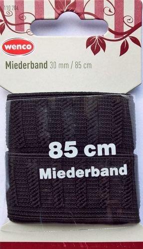 WENCO Miederband / Elastic-Miederband schwarz - 30 mm x 85 cm (WENCO Quaitätskurzwaren)