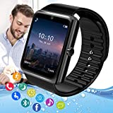 Pradory Smart Watch,Android Smartwatch Touch Screen Bluetooth Smart Watch for Android Phones Wrist Phone Watch with SIM Card Slot & Camera,Waterproof Sports Fitness Tracker Watch for Men Women Kids