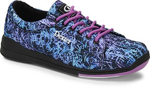 Dexter Ultra - Schwarz/Abstrakt, Bowling-Schuhe Damen, für Rechts- und Linkshänder in den Schuhgrößen 35-41 und Mein-Bowlingshop.de Schuhtasche. Größe 38
