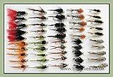 Troutflies UK Ltd Gold Kopf Nymphe Forelle Fliegen, 50Stück, 10Sorten, gemischt 10/12, Fliegenfischen