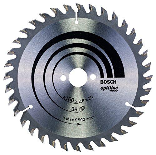 Bosch Professional Kreissägeblatt Optiline Wood (für Holz, 160 x 20 x 2,6 mm, 36 Zähne, Zubehör Kreissäge)