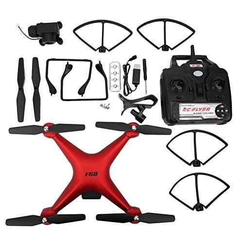 zhuolong Drone Telecamera HD, F68 Drone Telecomando Fotocamera HD 5MP Batteria 2000mAh Giocattolo quadricottero con Ritorno a Un Pulsante(Rosso)