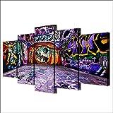 5 Panel/Set Lienzos Handart Cuadro En Lienzo Cinco Partes HD Clásico Óleo Impresiones Decorativas Cartel Arte Pared Pinturas Hogar Lienzo Arte De Graffiti Impreso En HD