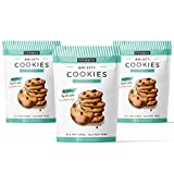 FORKETO Best Keto Chocolate Chip Cookies! 9G of Protein 2 Net Carbs No Added Sugar - Low Carb Sweets, Gluten Free & Healthy Diabetic, Paleo Snacks (3 Pack)