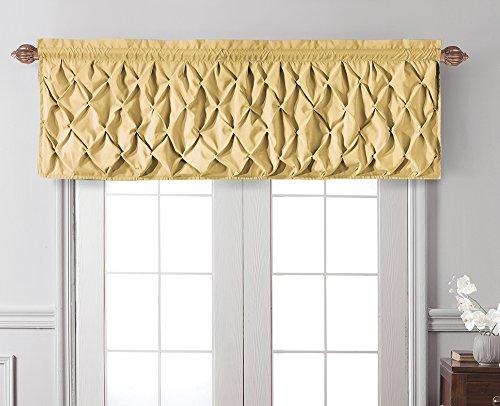 VCNY Home | Carmen Tailored Valance, Window Treatment, 60' X 20', Yellow