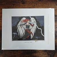 MTG《稲妻の天使/Lightning Angel》イラストレーターサイン入りアートプリント 複製原画