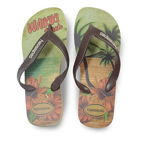 Havaianas HAV Surf Sand Grey/Dark Brown/Beige, Sandalia Hombre, Verde (Amazonia), 41 EU
