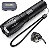 SUPER BRIGHT Rechargeable Tactical 1200 Lumen LED Aluminum Alloy Flashlight carrying case and USB cable and plug included - GREAT GIFT IDEA! by Tactic Ops