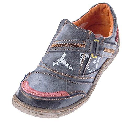 TMA Comfort Damen Leder Schuhe 1364 Turnschuhe Schwarz Slipper Sneakers Halbschuhe Ziernähte Gr. 37