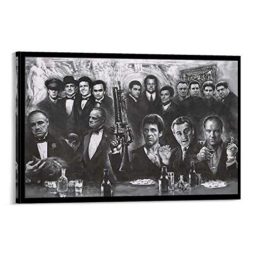 Mafia Gángster, Scarface, Soprano, Good Guys and Godfather Póster de la película de gángster Regalos para Niños y Niñas Dormitorios Póster Cuadro deco...