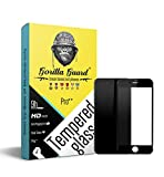 Gorilla guard's HD+ Black bezled 5D tempered glass screen protector for Apple iPhone 8 4.7inch (PRO++ series) 10H hardness, oleophobic, UV protect, 2.5D rounded edges, neo coated, free installation kit.