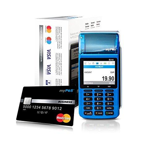 myPOS - Terminale di pagamento Combo, lettore di carte bancarie, colore: blu