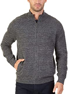 Nautica Men's Mock-Neck Full-Zip Cardigan Sweater