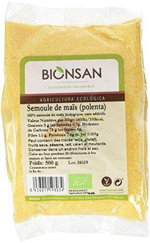 BIONSAN - BIO - Semoule de Maïs Polenta 500 g - Lot de 6