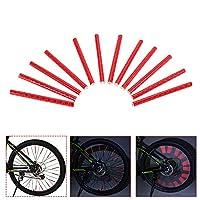 LIXADA 反射クリップ 自転車ホイール用 自転車スポーク用 24pcs 自転車装飾ライト 反射チューブ 安全クリップ ホイール