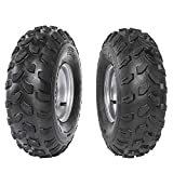 TDPRO Pack of 2 ATV Tires and Rims 19x7-8 Tubeless 4PR Ply Wheels for Go Kart Quad Bike 4 Four Wheelers