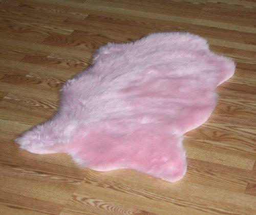 Faux Animal Skin Hide Rug 4'3 x 6'3 (Pink)