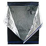 Hydroplanet 60x60x80 Mylar Hydroponic 600D 5'x5' Extra-Thick Canvas Grow Tent for Indoor Plant Growing (60x60x80)