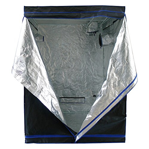 Hydroplanet 60x60x80 Mylar Hydroponic 600D 5'x5' Extra-Thick Canvas Grow Tent for Indoor Plant...