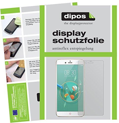 dipos I 2X Schutzfolie matt kompatibel mit Nubia Z17 Mini Folie Bildschirmschutzfolie
