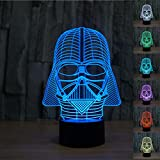 Padaday 3D Bulbing Star War Star War Darth Vader 3D Optical Illusion Desk Table Light Lamp