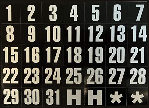 magnetic calendar numbers - 2