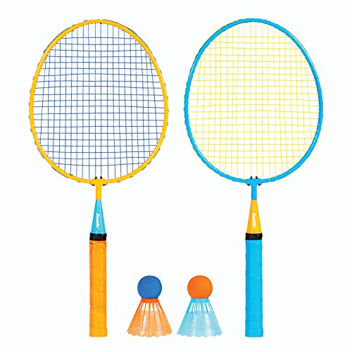 Franklin Sports Kids Badminton Set - Smashminton Set - 2 Player Youth Combo Set with Birdies