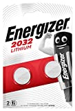 Piles bouton au lithium Energizer 2032, pack de 2