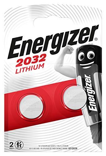 Energizer CR2032 Batterien, Lithium Knopfzelle, 2 Stück