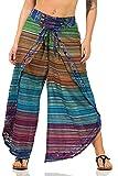 Sockenhimmel Damen Haremshose luftig leichte Wickelhose Paigh Hose mit Schnürung Goa Hose Dhoti Baumwolle Multicolor (36-38, Multicolor - zufällig)