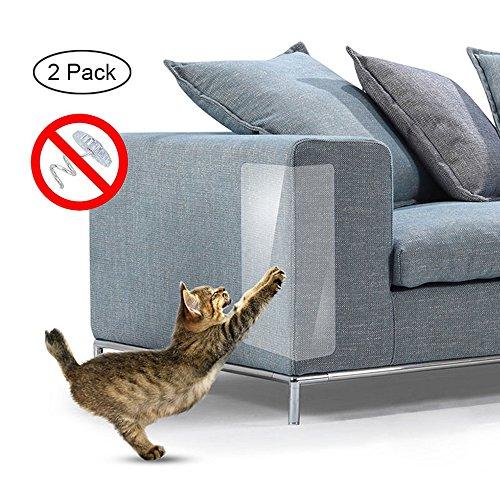 Umiwe Pet Scratch Couch Schutz (2PCS), Anti-Kratzen Möbel Hund Katze Klaue Kratzschutz Klar Vinyl Aufkleber Mit Selbstklebenden Pads für Polster Sofa Tür Wände Matratze Autositz 18.5 x 5.91in