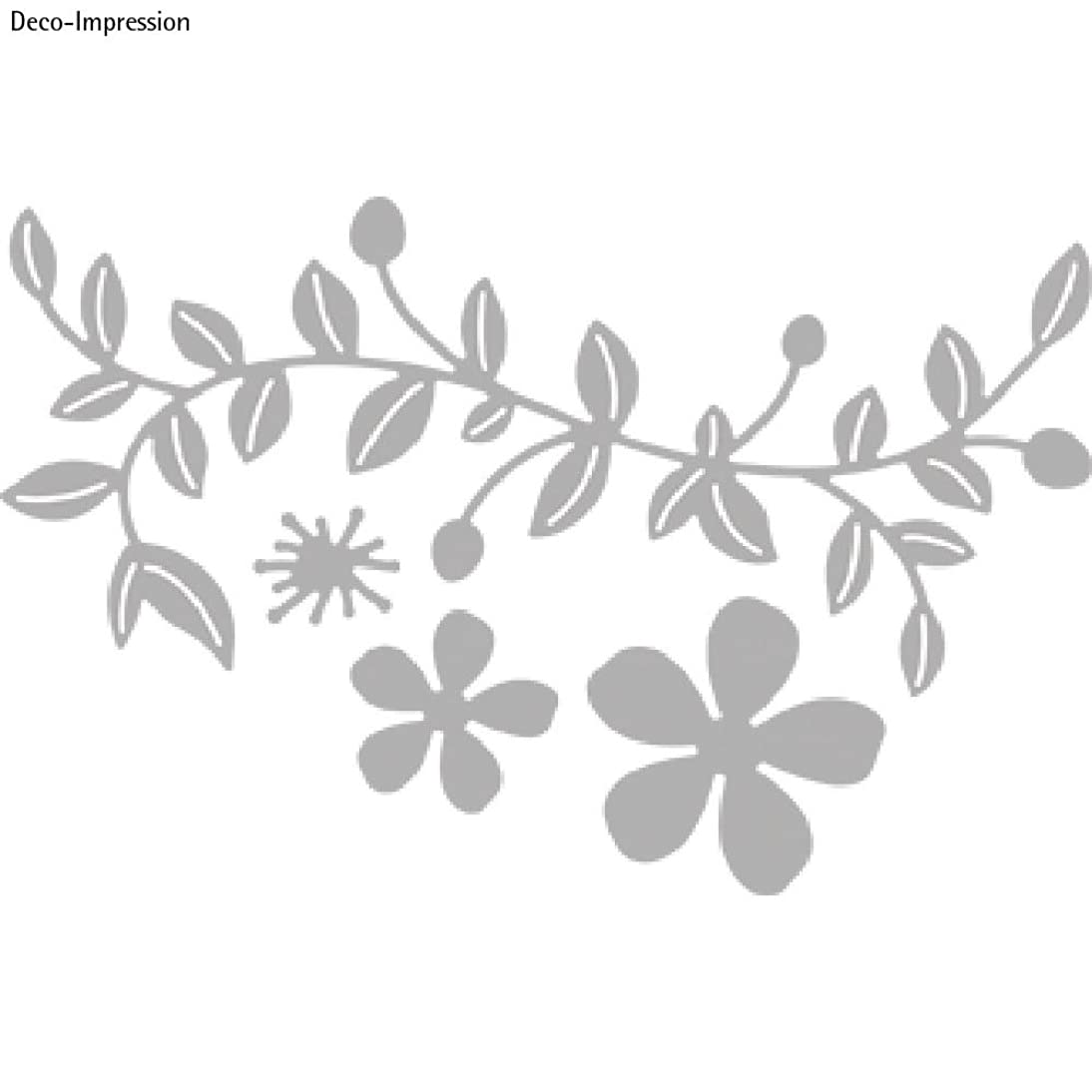 Rayher Vine with Flowers Punching Stencil, Grey