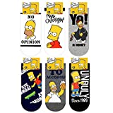 The Simpson Charakter Herren Knöchel Socken mit Beutel Packung mit 6 Paaren - Bart Simpson, Homer Simpson