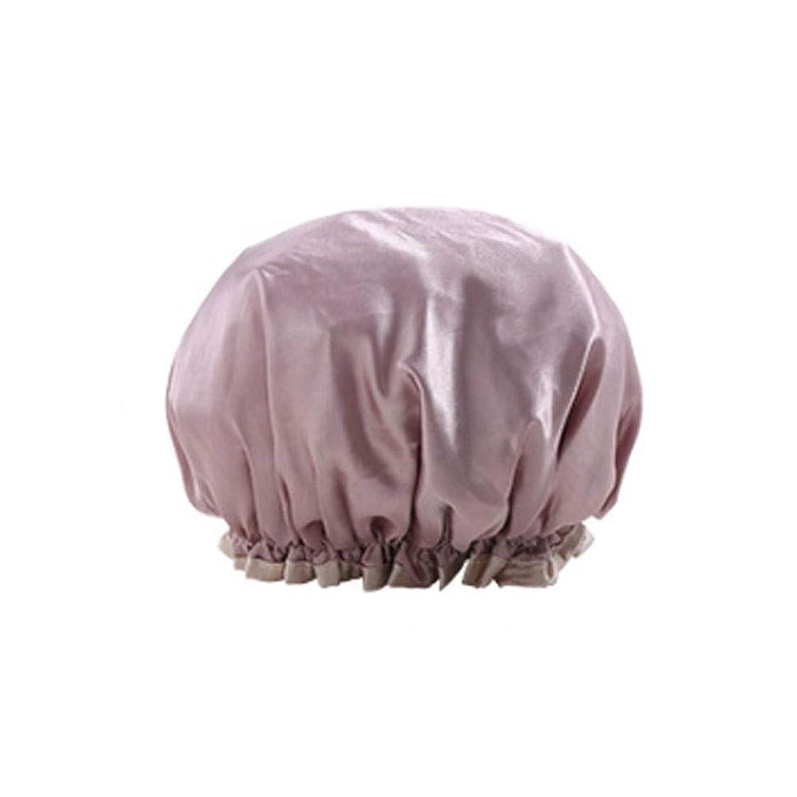 エゴイズムメガロポリス上院議員シャワーキャップ、レディースシャワーキャップレディース用のすべての髪の長さと太さのデラックスシャワーキャップ - 防水とカビ防止、再利用可能なシャワーキャップ。 (Color : Champagne)