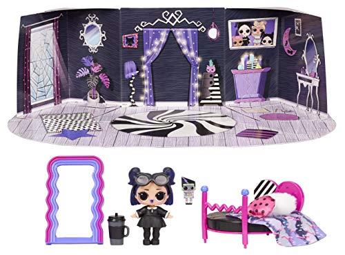LOL Surprise Furniture - Puppe Dusk mit mehr als 10 Überraschungen, Möbeln und Puppen-Accessoires - Miniatur Spielset - Kompatibel mit OMG House - Serie 4 - LOL Surprise Puppen für Mädchen ab 3 Jahren