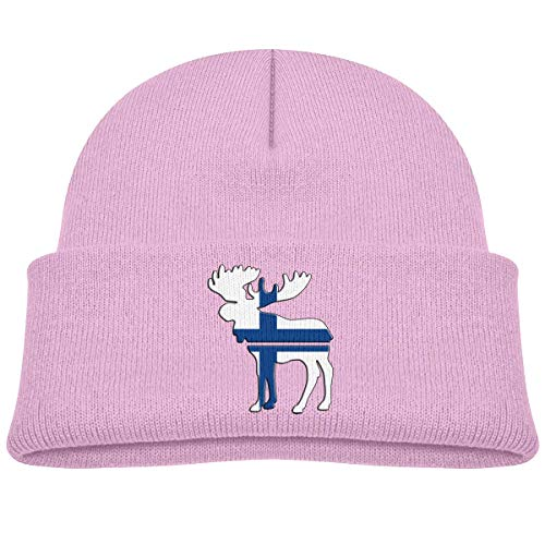 Voxpkrs Moose Finland Flag Baby Infant Toddler Winter Warm Beanies Hat Cute Kids Thick Stretchy Cap Cool 33076