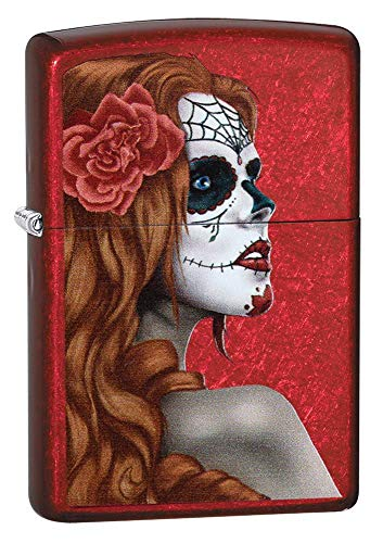 Zippo 'Day of The Dead Girl' Wasserflasche, Candy Apple Red, Regular