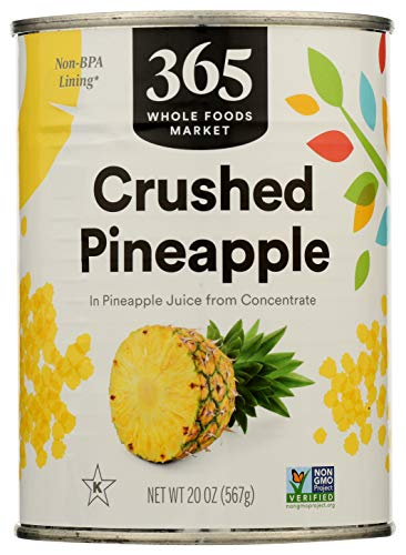 365 Everyday Value, Pineapple Crushed in Pineapple Juice from Concentrate, 20 oz