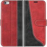 Mulbess Funda para iPhone 6s, Funda iPhone 6, Funda con Tapa iPhone 6s, Funda iPhone 6s Libro, Funda Cartera para iPhone 6s (4.7) Carcasa, Vino Rojo
