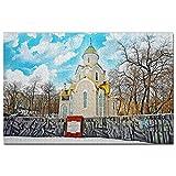 Russia Chiesa ortodossa orientale Vladivostok Puzzle 1000 Pezzi Adult Puzzle in Legno Gioco di Puzzle Souvenir Turismo Regalo