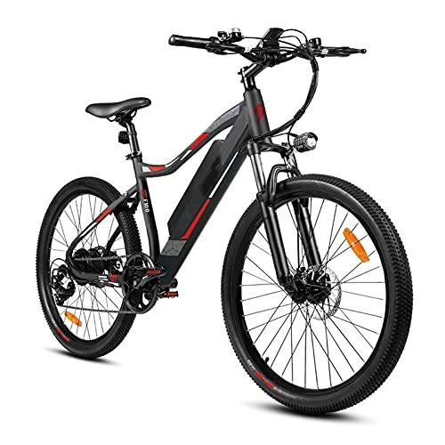 CM67 Premium Elektro Mountainbike Fahrrad 26 Zoll E-MTB Ebike Damen Aus Aluminum E-Bike 7 Gang Herren mit LED-Licht E-PAS Citybike Ausdauer 65-80km Zum Transportieren Ausflügen Pendeln