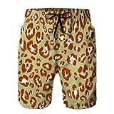 66 Shorts Juveniles para niños Shorts de Playa de Verano Pantalones Casuales patrón de Piel Animal M