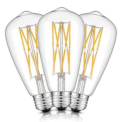 CRLight LED Edison Bulb E26 Medium Base Vintage Edison Style ST21 / ST64 Antique Shape, 2700K / 3000K / 4000K / 5000K