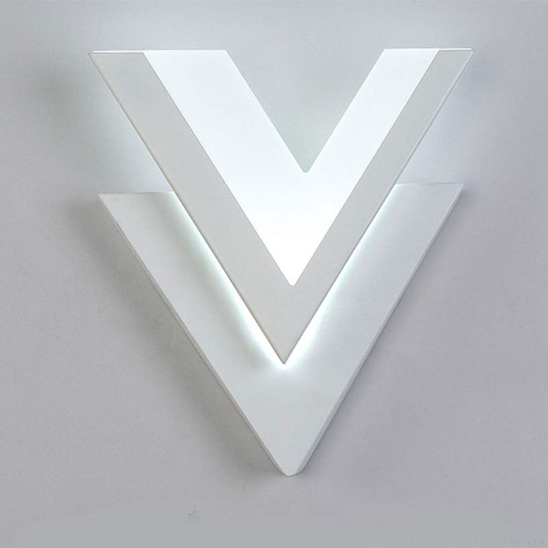 Laogg Wandleuchte LED, Moderne Wandleuchten 10 Watt Aluminium V Form Wandleuchte für Schlafzimmer Hause Beleuchtung Leuchte Badezimmer Leuchte Wandlampe