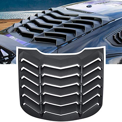 E-cowlboy Rear Window Louver Windshield Sun Shade Cover GT Lambo Style for Ford Mustang 2015 2016 2017 2018 2019 2020 2021 Custom Fit All Weather ABS (Matte Black)