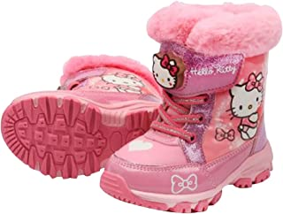 Hello Kitty Girls Light Up Winter Pink Warm Snow Boots (Parallel Import/Generic Product)