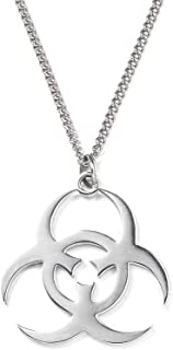 Necklace Tide Brand Biochemical Logo Necklace European and American Street Retro Men and Women Personality Hip Hop Titanium Steel
