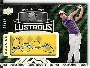 2013 UD Black Lustrous #72 Shirt Autograph Signatures RC Rory McIlroy #15/75