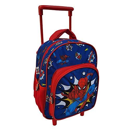 Mochila para guardería con ruedas, diseño de Spiderman, Marvel con 2 ruedas, mango extensible, 30 cm – SP0617